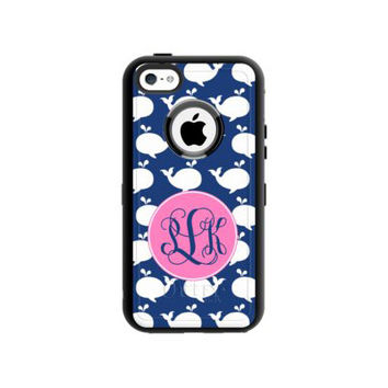 Monogrammed Otterbox Commuter iPhone 5/5s - Whale