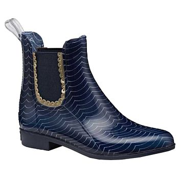 Sallie Print Rain Boot in Midnight & White by Jack Rogers