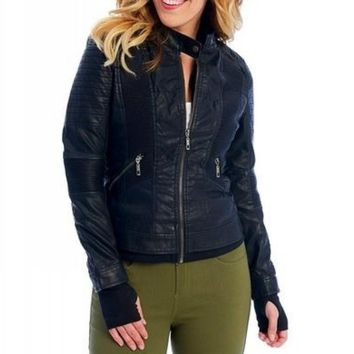 Quilted Moto Jacket