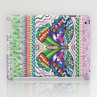 Tribal Butterfly iPad Case by Janet Broxon