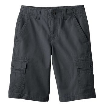 Tony Hawk Solid Microslubbed Cargo Shorts - Boys, Size: