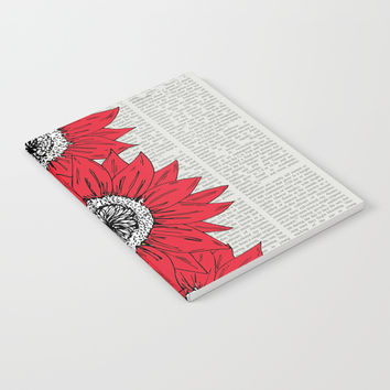 Red Sunflowers Notebook by JustV