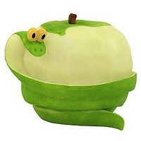 Home Grown from Enesco Green Apple Snake Figurine 2.5 IN