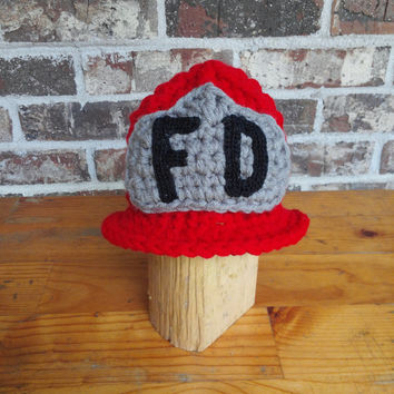 Firefighter hat Fireman Hat newborn to preteen , baby hat photography prop ,custom colors