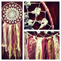 Pink Beachy Dream Catcher by 816Creations on Etsy