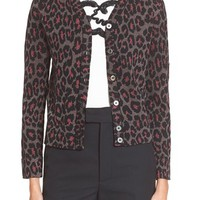 MARC BY MARC JACOBS Leopard Jacquard Cardigan   Nordstrom