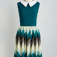 Sleeveless A-line Pinnacle of Prim Dress by ModCloth