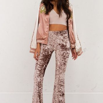 Autumn Pants High Waist Bell Bottoms Stretch Velvet Hippie Boho Gypsy Flare Long Pants