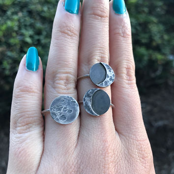 Moon Phase Statement Ring - Ready to Ship