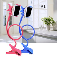 Creative Gift Artifact Bedside Can Bend Lazy Bed Mobile Phone Support Frame Clamp Universal Mobile Phone Rack on Bed Mobile Phone Clip [8270579137]