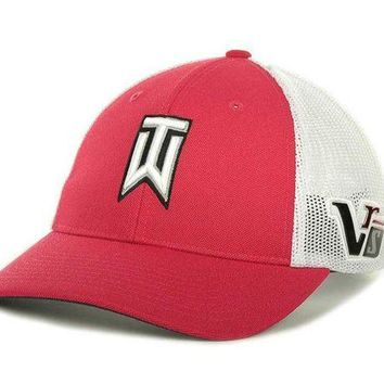 ESBONIA Nike Golf Tiger Woods TW Tour Cap Hat - Red / White