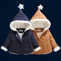Baby winter coat unisex fashion cotton clothes for baby girls wear cotton-padded jacket baby infant thick outerwear 1to12 months