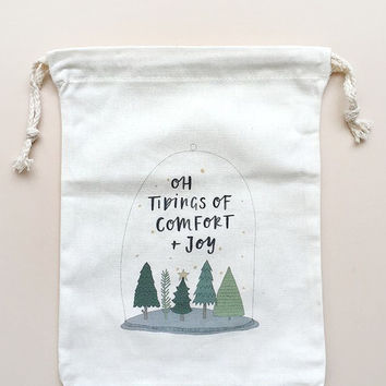 Joy Canvas Gift Bag by In The Daylight