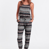 Winding Road Printed Jumpsuit