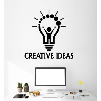 Vinyl Wall Decal Creative Idea Words Cartoon Man Home Office Stickers (3247ig)