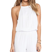 Indah Tang Open Back Jumpsuit in White