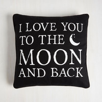 Sayings Intergalactic Affection Pillow by ModCloth
