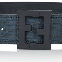 Fendi Boys Blue Leather Belt