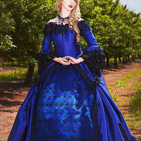 SALE Valentina Gothic Romantic Off Shoulder Fantasy Gothic Victorian Gown Size Small/Med