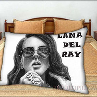 """Lana Del Ray Picture Art - 20 """" x 30 """" inch,Pillow Case and Pillow Cover."""
