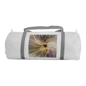 Floral Fantasy Pattern Abstract Fractal Art Duffle Bag