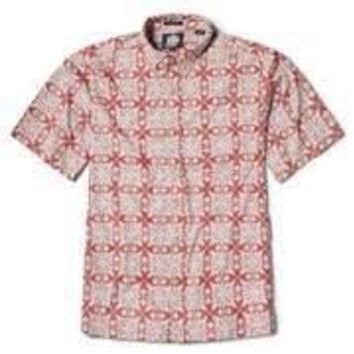 "Reyn Spooner ""Hawaiian Christmas Quilt 2018"" Mens Red Aloha Shirt"
