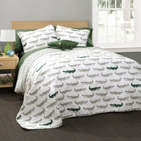 Kids Alligator Quilt Bedding SET