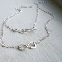 Sterling Silver Infinity Necklace - custom made to any length