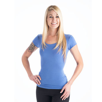 Strength Bamboo T-Shirt - Periwinkle