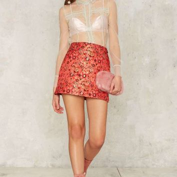 Nasty Gal Collection Cherry Picked Floral Skirt