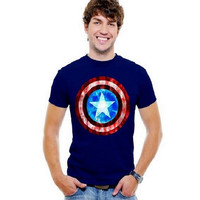 Licensed Marvel Comic Captain America Men's T-Shirt