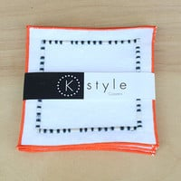 """Fabric Coasters, Linen Coasters, Embroidered Coasters, Halloween Coasters, Drink Coasters, Beverage Coasters, 28 Hem colors, Set of 4, 4 """""""
