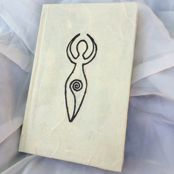 Spiral Goddess Leather-Free Pagan Wicca Book of Shadows