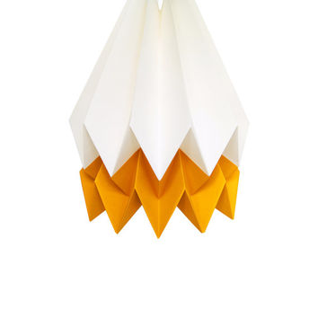 Origami Lamp | MANGO Yellow | Summer Collection | Handmade Lampshade | FREE SHIPPING