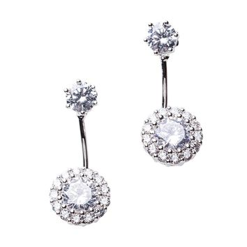 Halo Front to Back Earrings