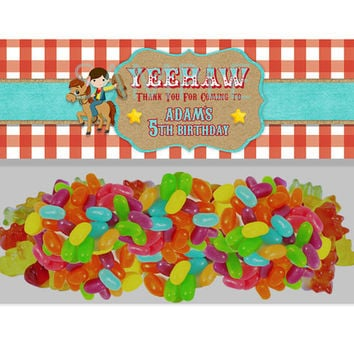 Boys Cowboy Birthday Bag Topper Party Favors - Western Cowboys Party Favor Goody Bags - Boy Birthday Treats - Favor Ideas - Candy Buffet