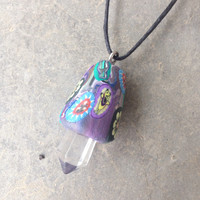 Trippy Mushroom Crystal Necklace