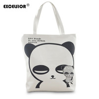 Women Canvas Shopping Handbag Shoulder Bags Big Tote Purse Messenger Hobo Satchel Cartoon Panda Bag