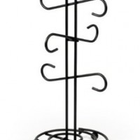 Spectrum Diversified 44710 Scroll Mug Holder, Black