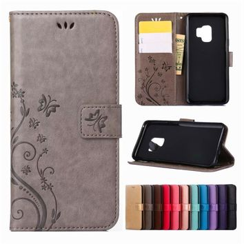 Leather Phone Case Wallet Cover For Samsung Galaxy S8 Plus S9 Plus S3 S4 S5 Mini S6 S7 Edge Note 4 Note 5 Note 8 Flip Stand Case