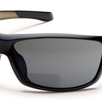 Suncloud - Conductor Black Backpaint Reader Sunglasses, Gray Polarized Lenses