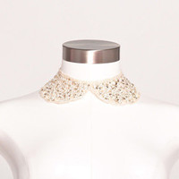 Mini Sequin Collar in Cream