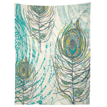 Rachael Taylor Peacock Feathers Tapestry