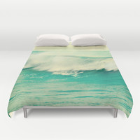 The force of the waves Duvet Cover by Guido Montañés