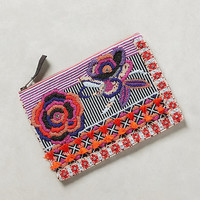 Beaded Flower Pouch
