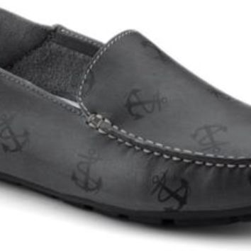 Sperry Top-Sider Wave Driver Anchor Tattoo Convertible Moc GrayAnchorLeather, Size 12M  Men's Shoes