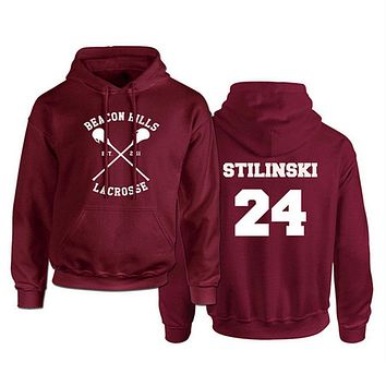 Teen Wolf Hoodies Men Streetwear Hip Hop Mens Hooded Hoodie Sweatshirt Beacon Hills Lacrosse Stilinski Lahey McCall Printed