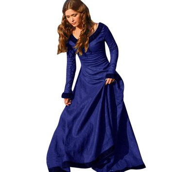 Vintage Ladies Medieval Dress Cosplay Costume Princess Renaissance Gothic Dress