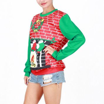 ONETOW Ugly Christmas Sweater  Hot Deal Winter Costume Cartoons Christmas Tops Santa Custome [9475941444]