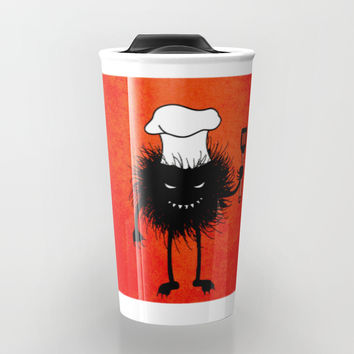 Evil Bug Chef Loves To Cook Travel Mug by borianagiormova